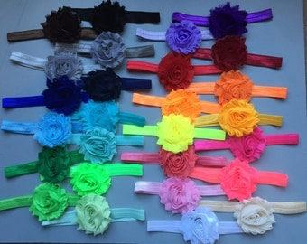 WEEKLY DEAL Shabby Flower Set- Baby Headbands, Rainbow Headbands, Headband Sets, Baby Headband Set