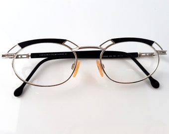 Black Extravagant Glasses // Retro Ladies Fashion Designer Eyewear // Mid Century Deadstock Fashion Accessories