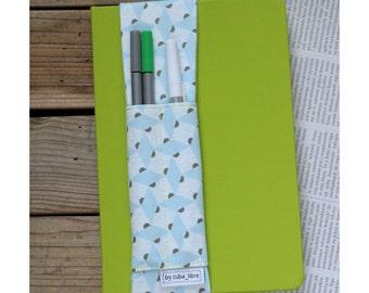Notebook pen holder - Squares