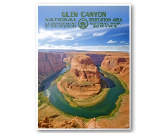 Glen Canyon National Recreation Area Travel Poster