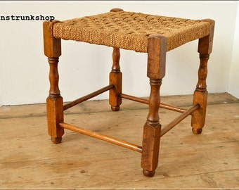 SOLD SOLD  stool vintage mid century wood wooden string top b