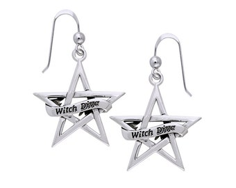 Witch Diva Pentacle Earrings