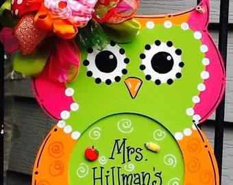 owl sign, owl door sign, owl teacher sign, teacher sign, teacher door sign, teacher signs, classroom sign, classroom door signs, class sign