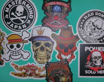 Set of 10 Skull Stickers