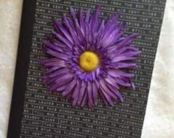Purple Words Aletered Composition Notebook