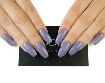 Lilac UV Gel Nails, Press on Nails, Fake Nails, False Nails, Nails, UV Gel, Coffin Nails, Stiletto Nails, Almond Nails, Square Nails