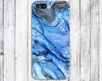 Blue Marble x Black Stone Phone Case Texture iPhone 6 iPhone 6 Plus Tough iPhone Case Galaxy s8 Samsung Galaxy Case Handmade CASE ESCAPE