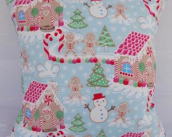 Christmas cushion, gingerbread cushion, gingerbread house cushion, snowman cushion, kids cushion, Christmas, cushion cover