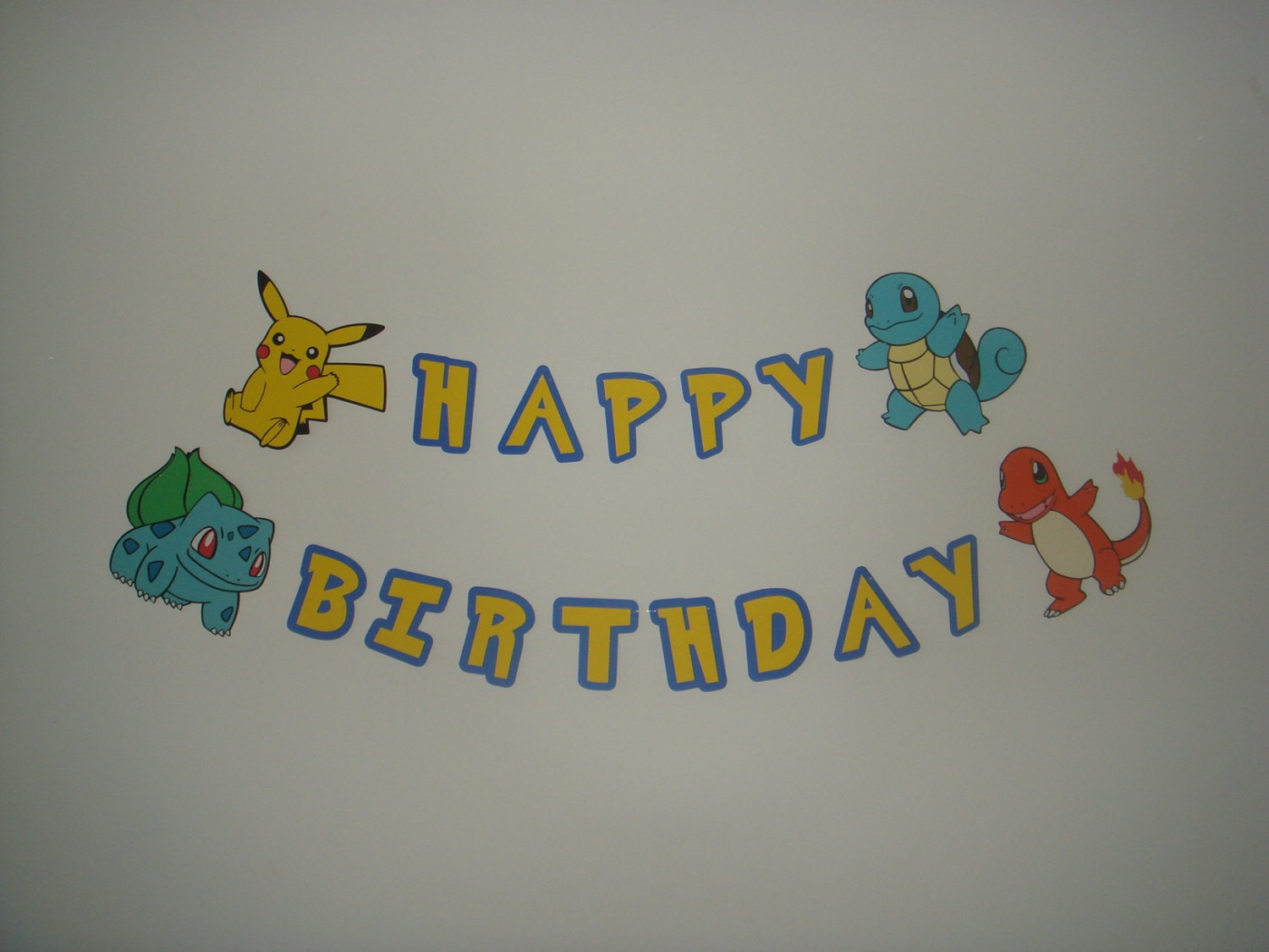 Pika Happy Birthday Party Wall Decoration Banner Garland Cut