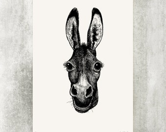 "Screenprint ""Donkey"""