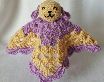 Lavender and Honey baby blanket buddy.