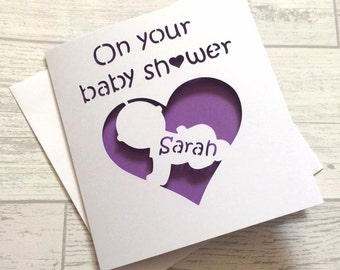 baby shower card, baby shower, card for baby shower, friend's baby shower, having a baby, baby card, her baby shower, baby shower gift,