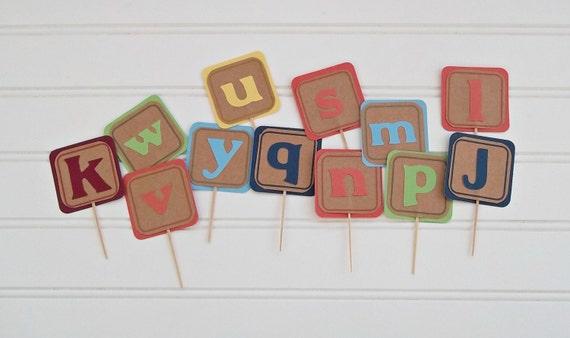 Cake Decorations Letter Blocks : alphabet blocks cake toppers, ABC s blocks birthday, ABC ...