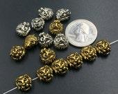 Lion Charms Beads Lion Pendant Necklace LEO Charms Bracelet Beads Animal Charms Pendant Supplies Antique Silver Gold 10 pcs