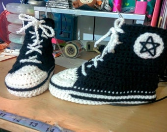 crochet converse sneakers slippers adult size made to order men women