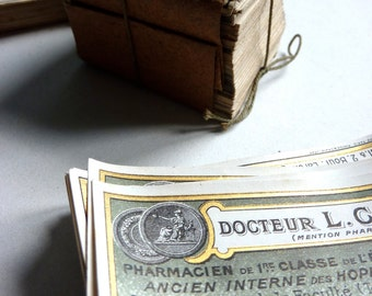 vintage French pharmacy labels, apothecary labels