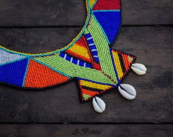 my creation.....very colorful necklace...) African inspiration...made with love! By my hands)