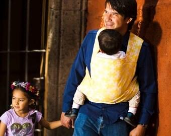 Mei Tai - Daiesu Jigsaw Lemon - Mei Tai Baby Carrier - Baby Wrap - Woven Baby Wrap - Baby Carrier - Wrap Conversion Mei Tai