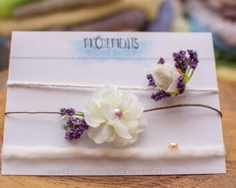 Tieback Grab Bag - Set of 3 - newborn-9 months - photography prop - premium hemp - lavender - quality
