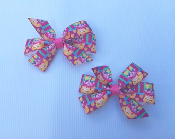Shopkins Wishes Hair Bows // Set of 2 // Bows // Pigtail Bows // Shopkins // Wishes