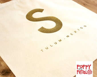 Design Your Own Bag, Logo Design Bag, Custom Tote Bag, Canvas Tote Gift, Personalized Bag, Shopping Tote Bag in Gold Vinyl.