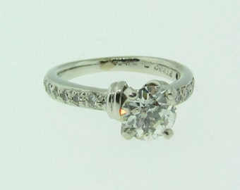 Vintage Platinum and diamond engagement ring.