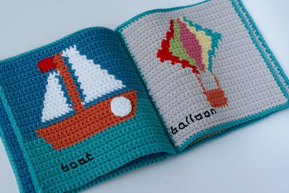 Crochet Pattern Baby Book ~ Soft Book ~ Waldorf Toy ~ Cloth Baby Book ...
