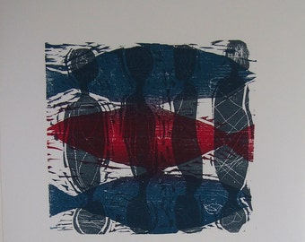 Michael Muller Original Woodcut Print - Limited Edition Woodcut