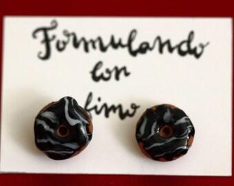 Chocolate donuts earrings / Chocolate donuts earrings