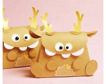 """plotterdatei - mini gift bag """"monster deer"""""""