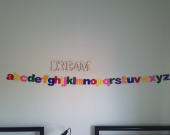 alphabet banner, alphabet garland, nursery decoration