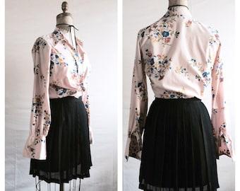 VINTAGE• 1970s Bobbie Brooks Floral Button up