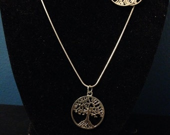 Dreaming tree #1 necklace and earrings set