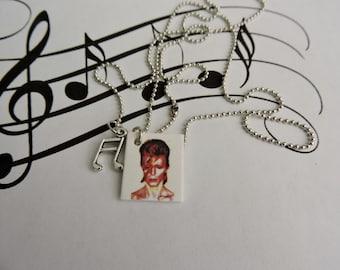 David Bowie, David Bowie Charm Necklace,David Bowie Jewelry, David Bowie Novelty Necklace
