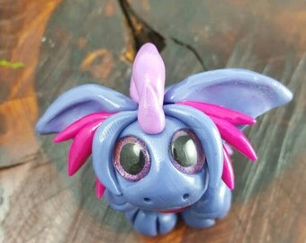 """OOAK polymer clay """"pudgy"""" dragon"""