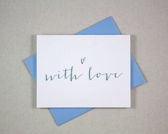Letterpress Card - With Love