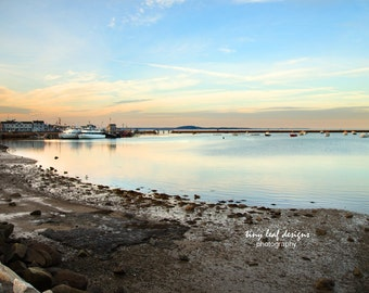 Plymouth MA Ocean at Sunset Original Photography
