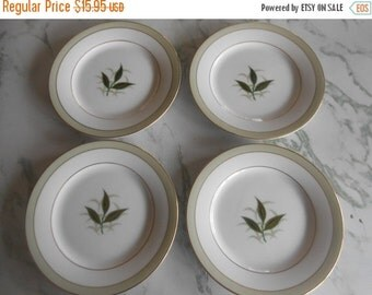 """VINTAGE SUMMER SALE Vintage Noritake China Bread and Butter Plates in the """"Greenbay"""" pattern, 1953-1960, Four plates-one price, Pattern # 53"""