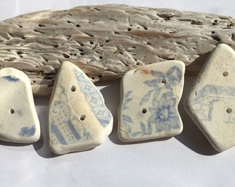 Large hand made,Scottish Sea Pottery Buttons  B 25.8.16.4