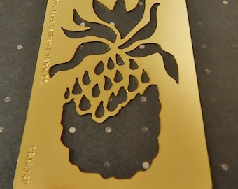 Pineapple Brand New Brass Embossing Stencil Paper Crafts Greeting Cards Collage and More