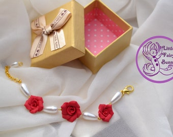 Elegant Fimo Flowers Bracelet for special Occasions