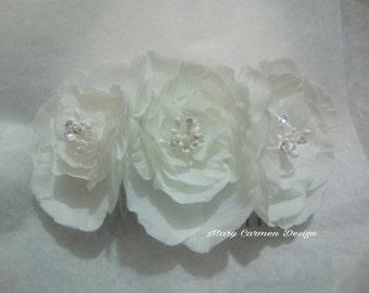 Crystal headpiece, headcomb, Pik crystals, Wedding Hairpiece crystal, headcomb peonies,