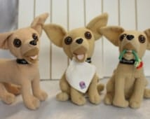 Three Taco Bell Chihuahua Vintage Advertising Dog with Flower Dog with Napkin All 3 talk!