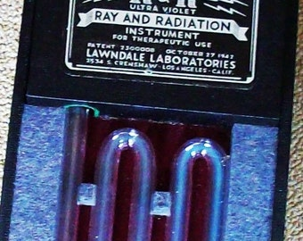 Medical Quackery / Ray and Radiation Instrument / Patent #7300008 1947 / Science Collectible
