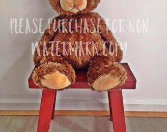 Nursery Print - Brown Bear 8x10