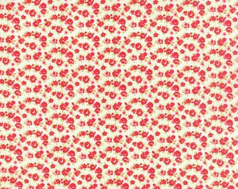 Little Ruby - Little Rosie Natural Floral - Bonnie and Camille - Moda - by the half yard - 100% Cotton