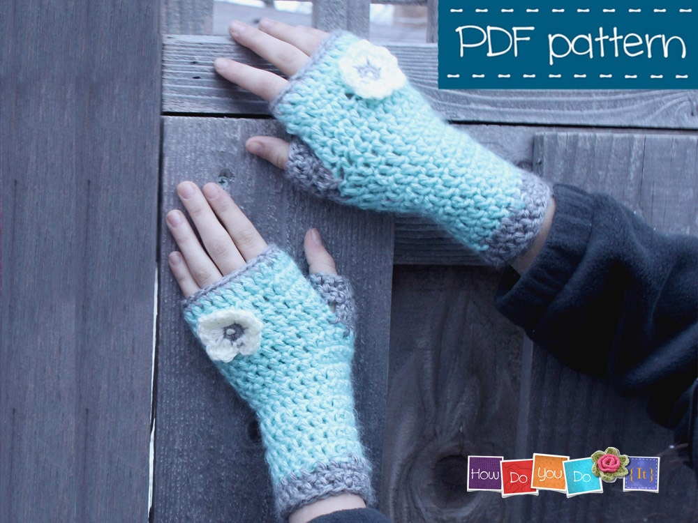 Crochet Fingerless Gloves Pattern Beginner : PDF Crochet Pattern FIngerless Mittens For Kids Gloves for
