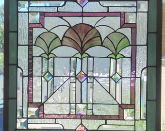 Stained Glass Window Hanging 21 1/4 X 21 1/4