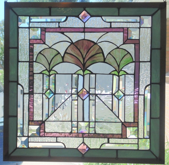 Stained glass window hanging 21 1 4 x 21 1 4 for 14 x 21 window