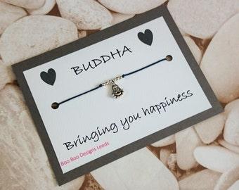 BUDDHA Bracelet, Yoga Friendship Bracelet, Wish Bracelet, Meditation, Buddha Friendship Bracelet, Buddha Card, Buddha Greeting